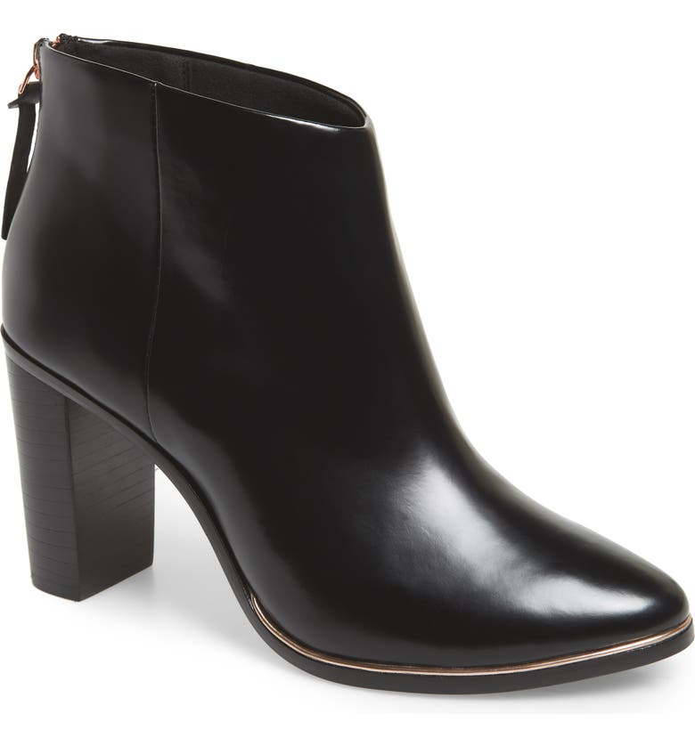 TED BAKER LONDON Vaully Bootie, Main, color, BLACK LEATHER