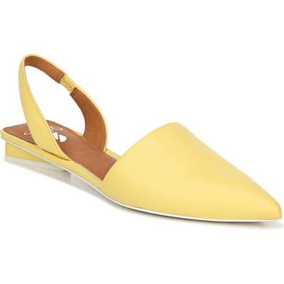 Sarto By Franco Sarto Graydon Pointy Toe Slingback Flat- Yellow