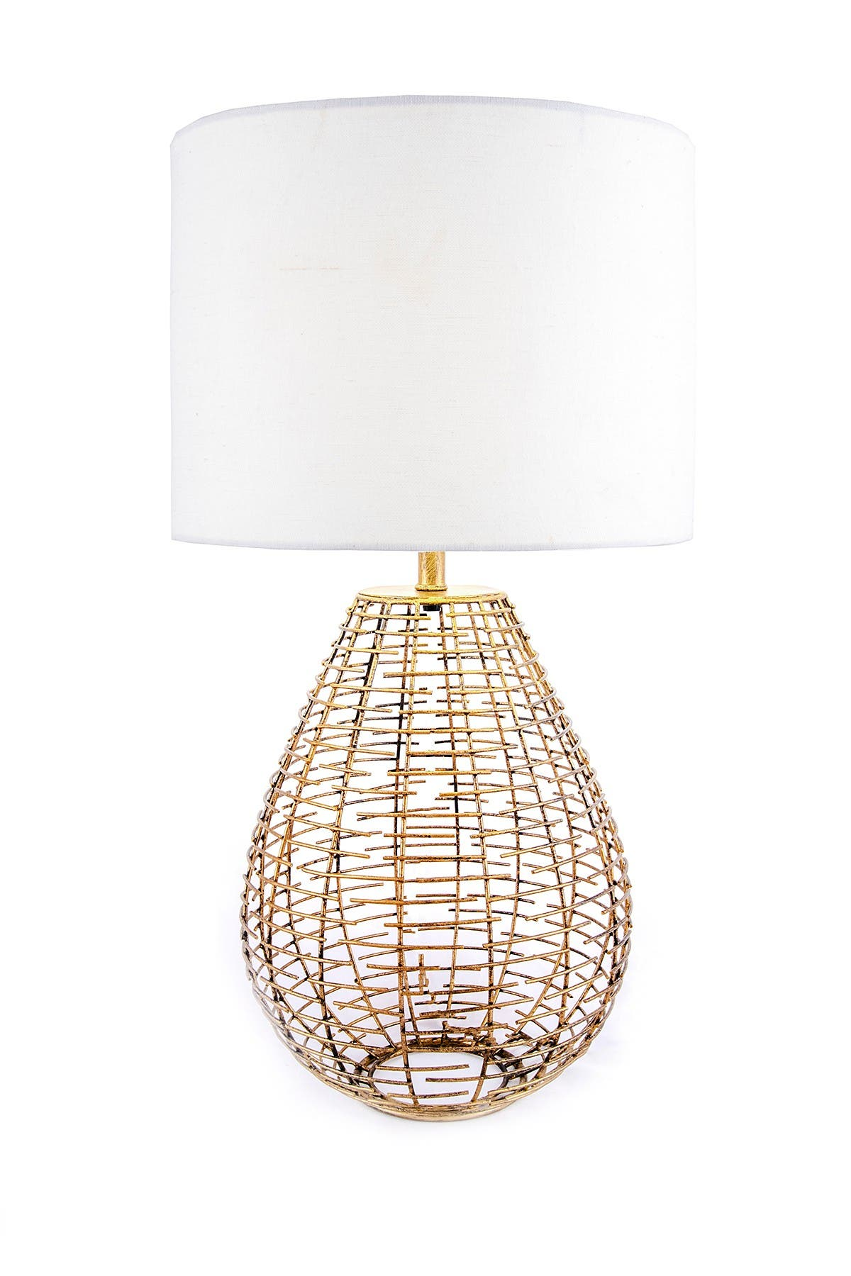 """Image of nuLOOM Brass Lorain Brass 27"""" Table Lamp"""