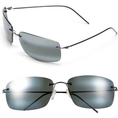 Maui Jim Frigate Polarizedplus2 65Mm Sunglasses - Gunmetal Blue/ Neutral Grey