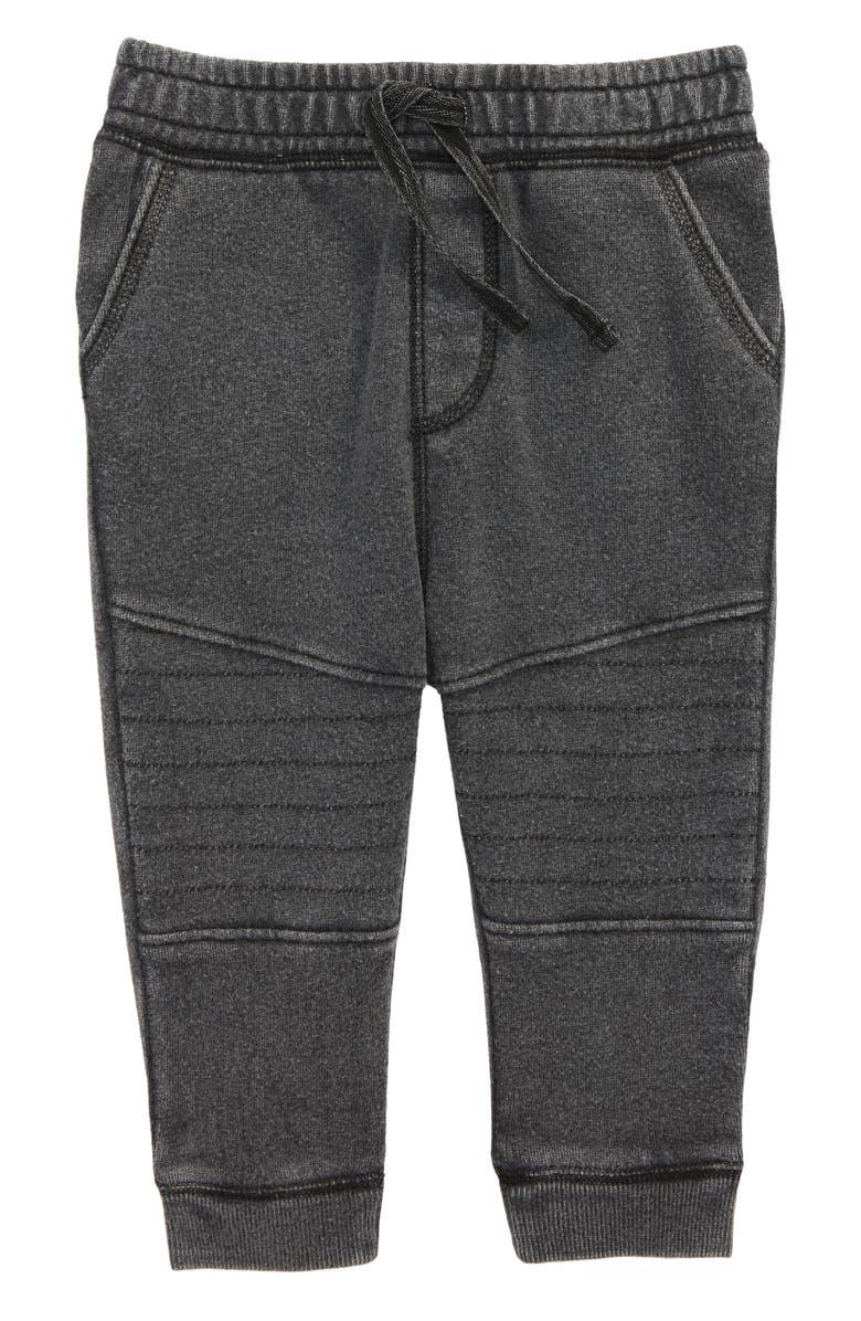 TUCKER + TATE Moto Jogger Pants, Main, color, BLACK