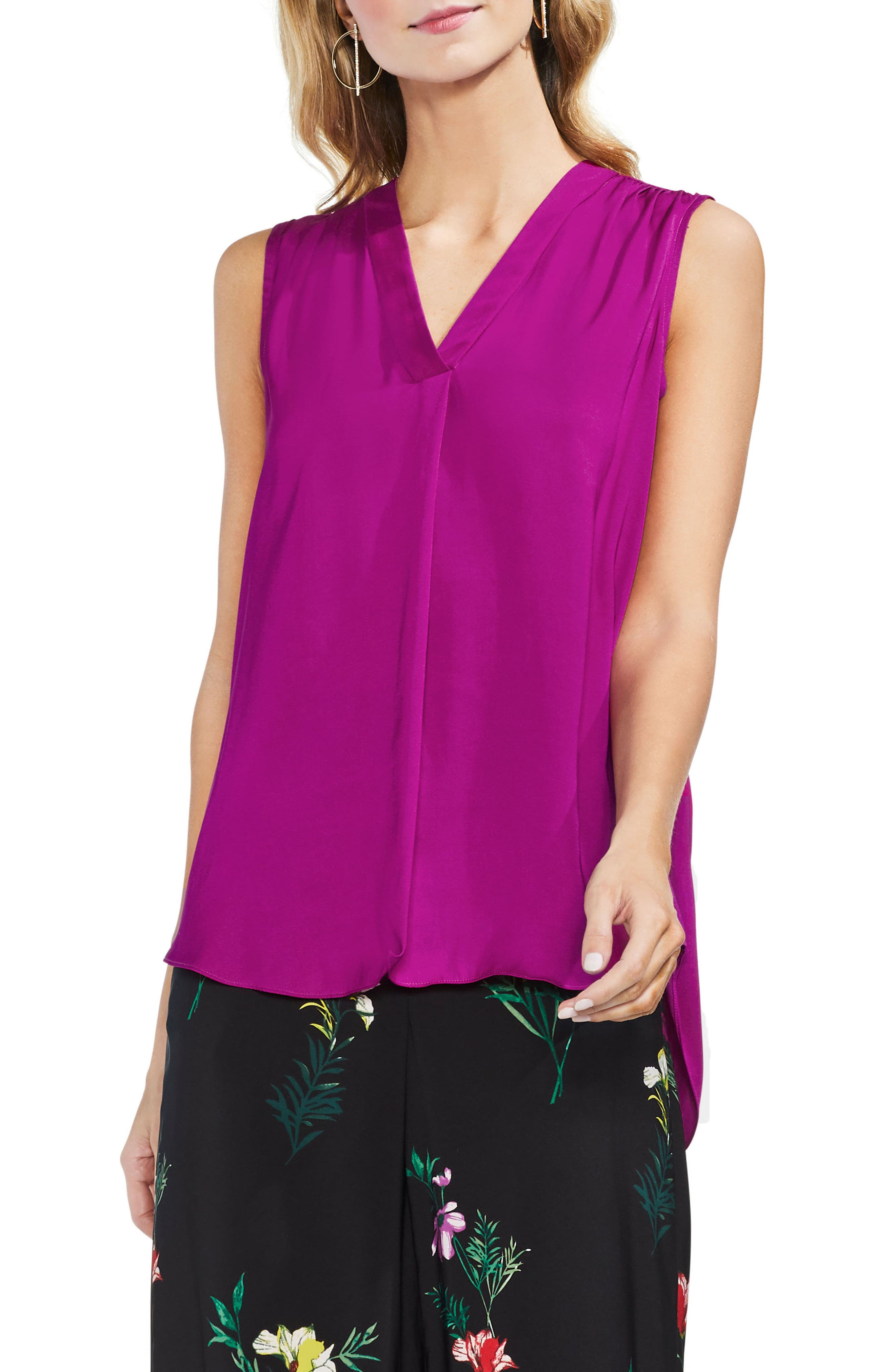 ,                             Rumpled Satin Blouse,                             Main thumbnail 227, color,                             651