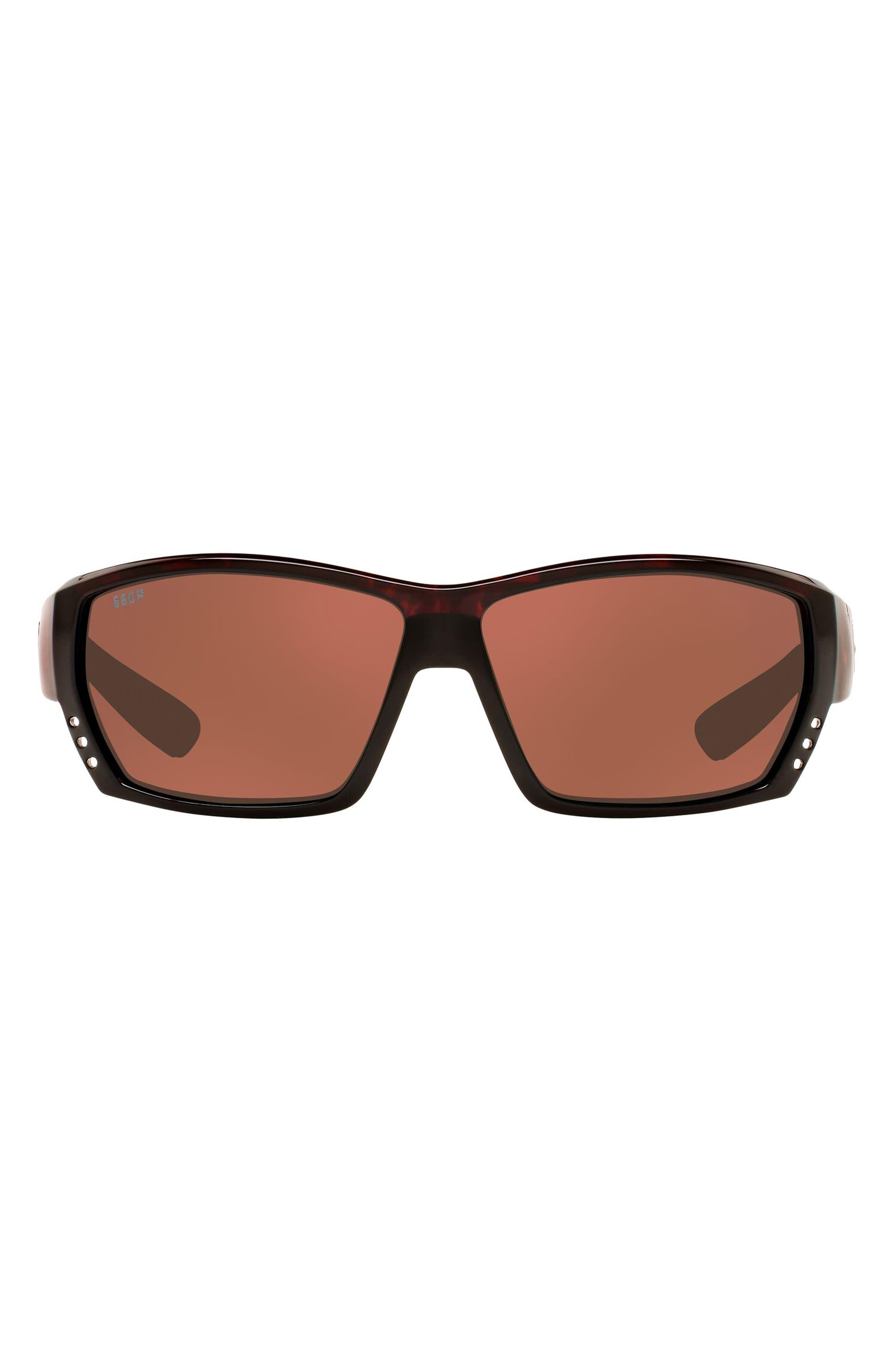63mm Polarized Oversize Wraparound Sunglasses