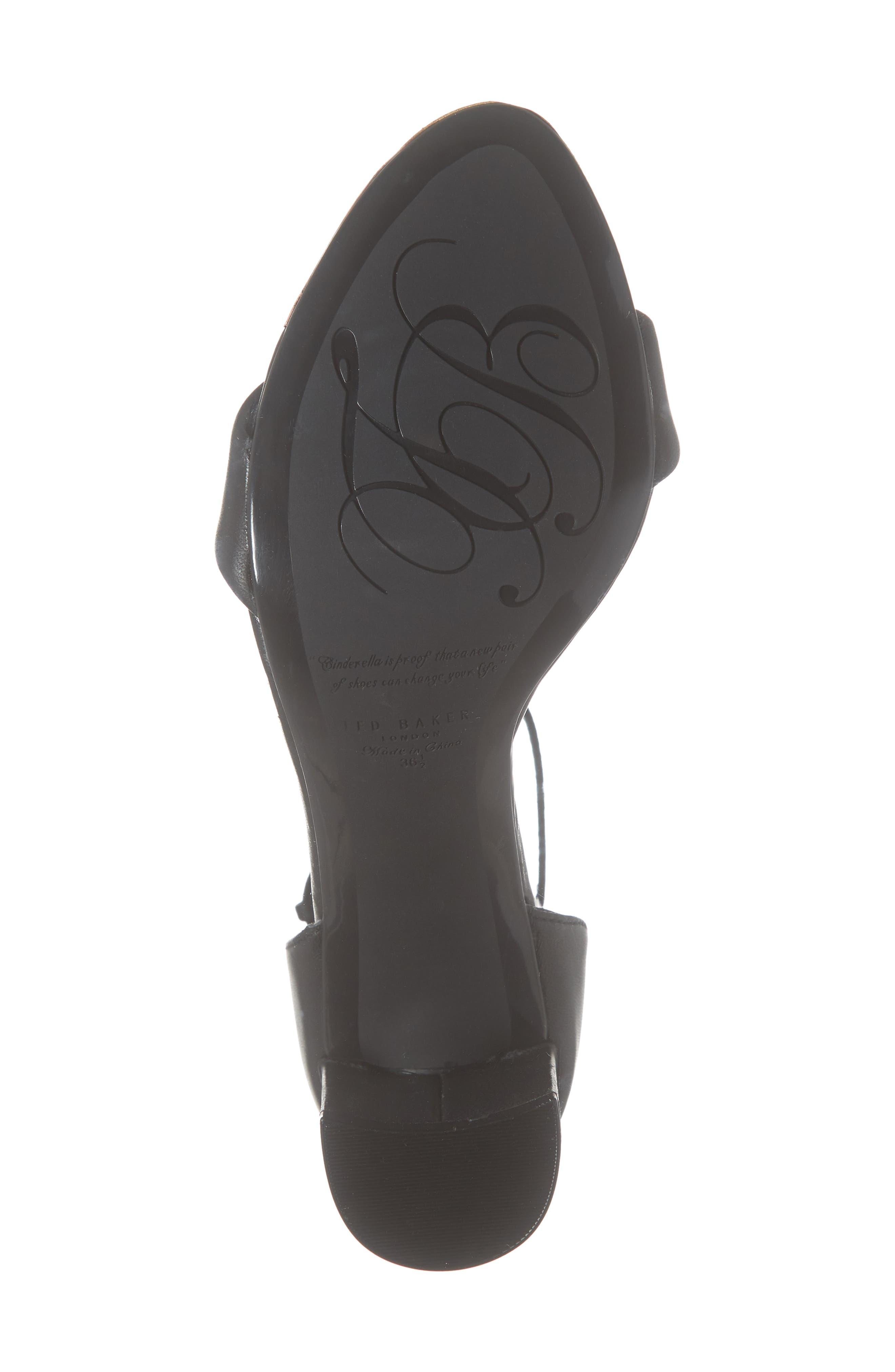 ,                             Shea Ankle Strap Sandal,                             Alternate thumbnail 7, color,                             BLACK LEATHER