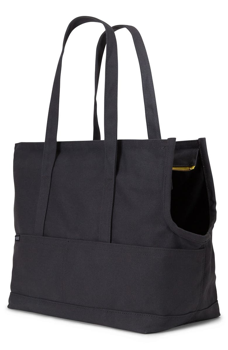LOVETHYBEAST Waxed Canvas Pet Tote, Main, color, 001
