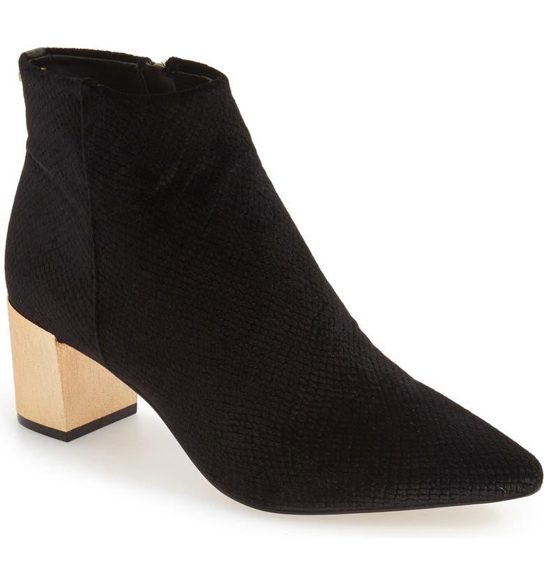 CALVIN KLEIN 'Narla' Block Heel Bootie, Main, color, 002