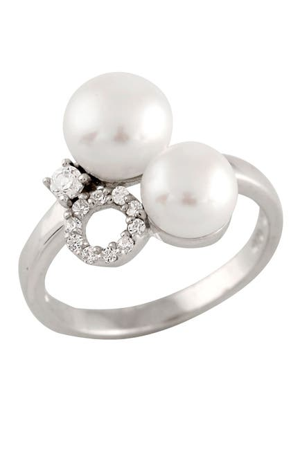 Image of Splendid Pearls 6-8mm Double Cultured Freshwater Pearl Ring