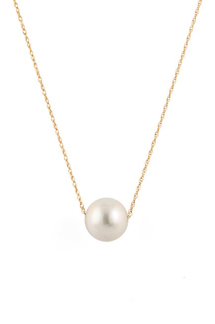 Image of Splendid Pearls 14K Yellow Gold 10-11mm Freshwater Pearl Pendant Necklace