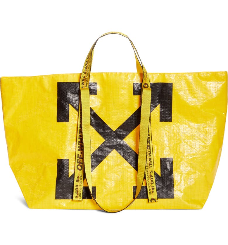 OFF-WHITE New Commercial Tote, Main, color, YELLOW BLACK