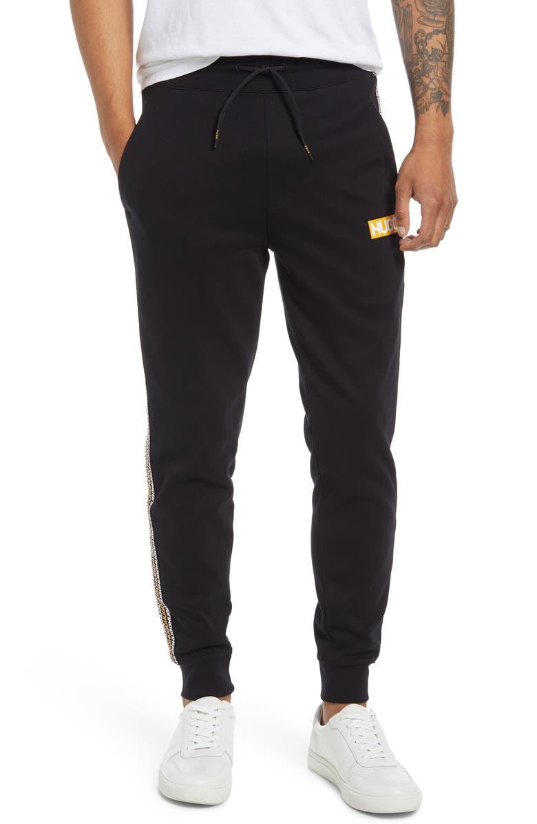 HUGO Donburi Logo Sweatpants, Main, color, BLACK