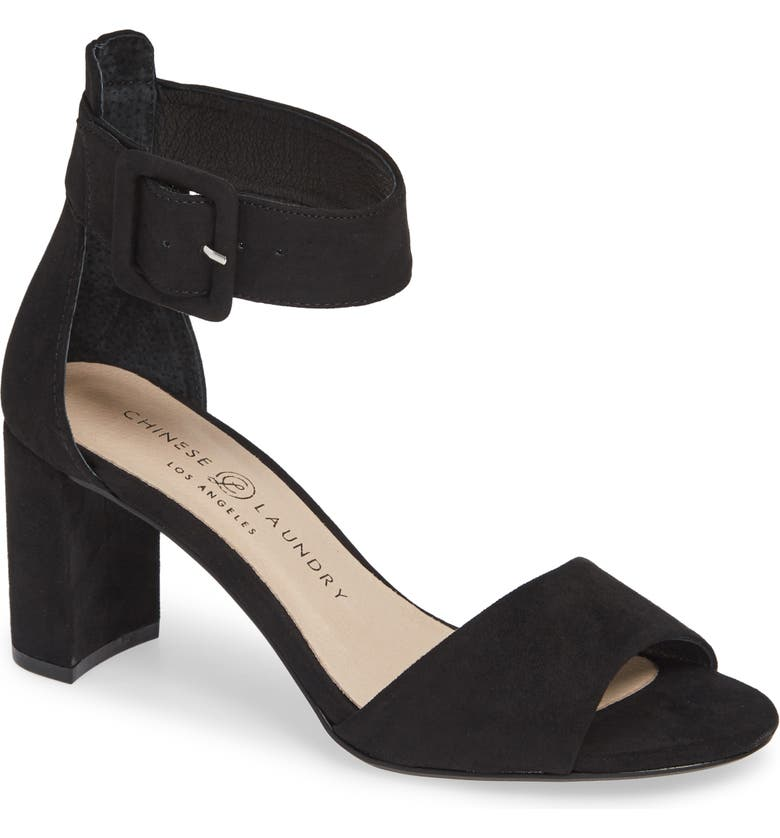 CHINESE LAUNDRY Rumor Sandal, Main, color, BLACK SUEDE
