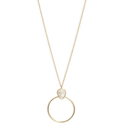 Argento Vivo Mother-Of-Pearl Pendant Necklace