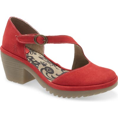 Fly London Wako Pump, Red