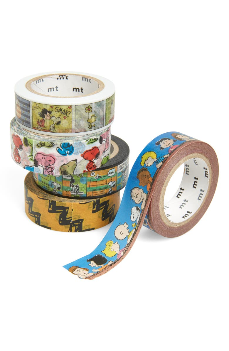 MT x Peanuts<sup>®</sup> 5-Pack Decorative Tape Gift Box, Main, color, 840