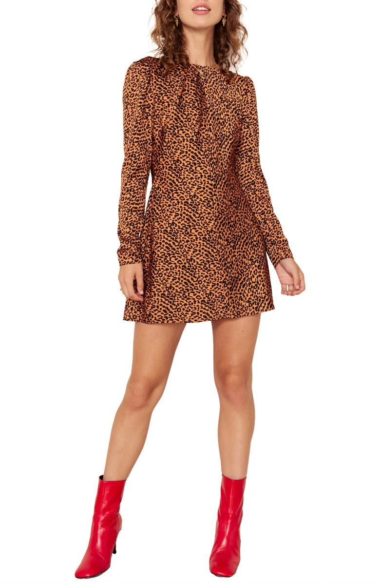The East Order Sahara Print Long Sleeve Minidress
