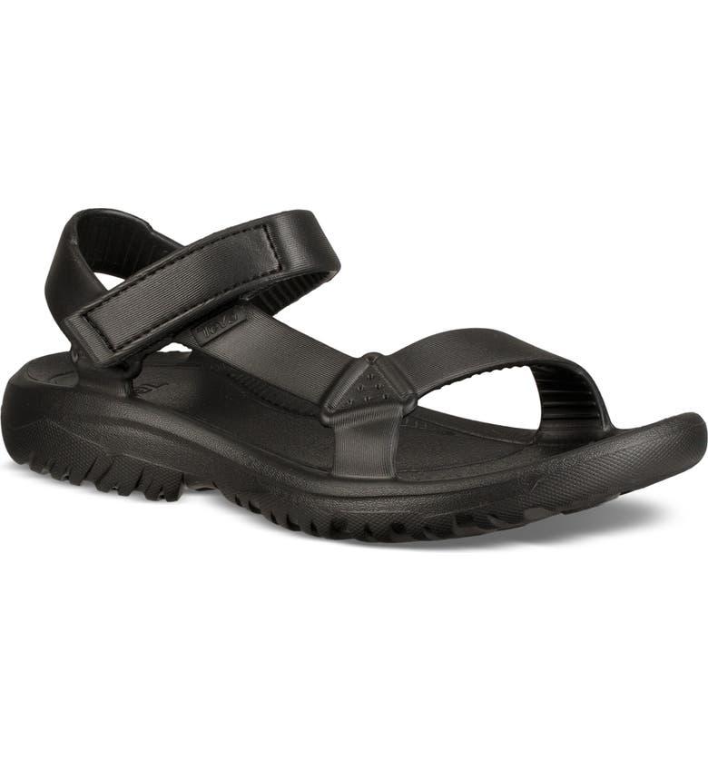 TEVA Hurricane Drift Water Friendly Sandal, Main, color, BLACK FABRIC