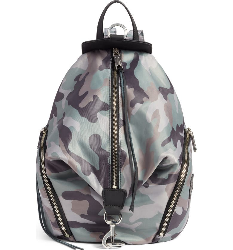 REBECCA MINKOFF Julian Nylon Backpack, Main, color, CAMO PRINT