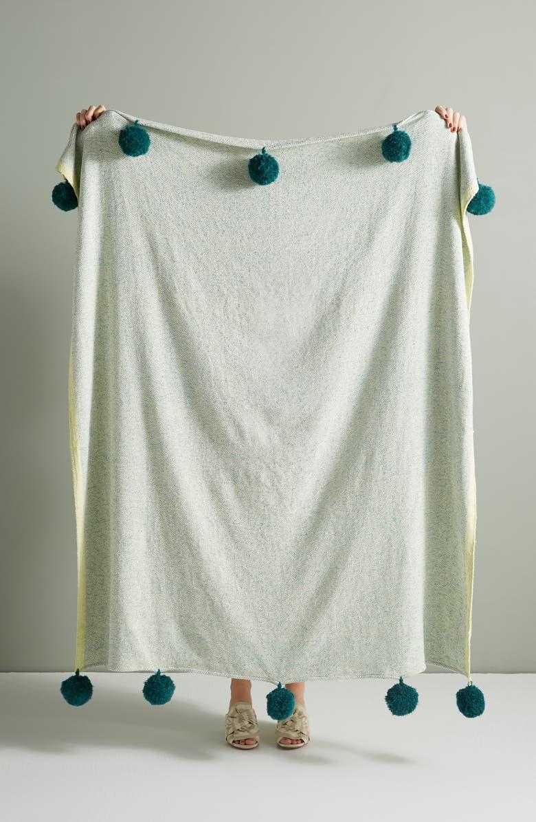 ANTHROPOLOGIE Survana Throw Blanket, Main, color, 455