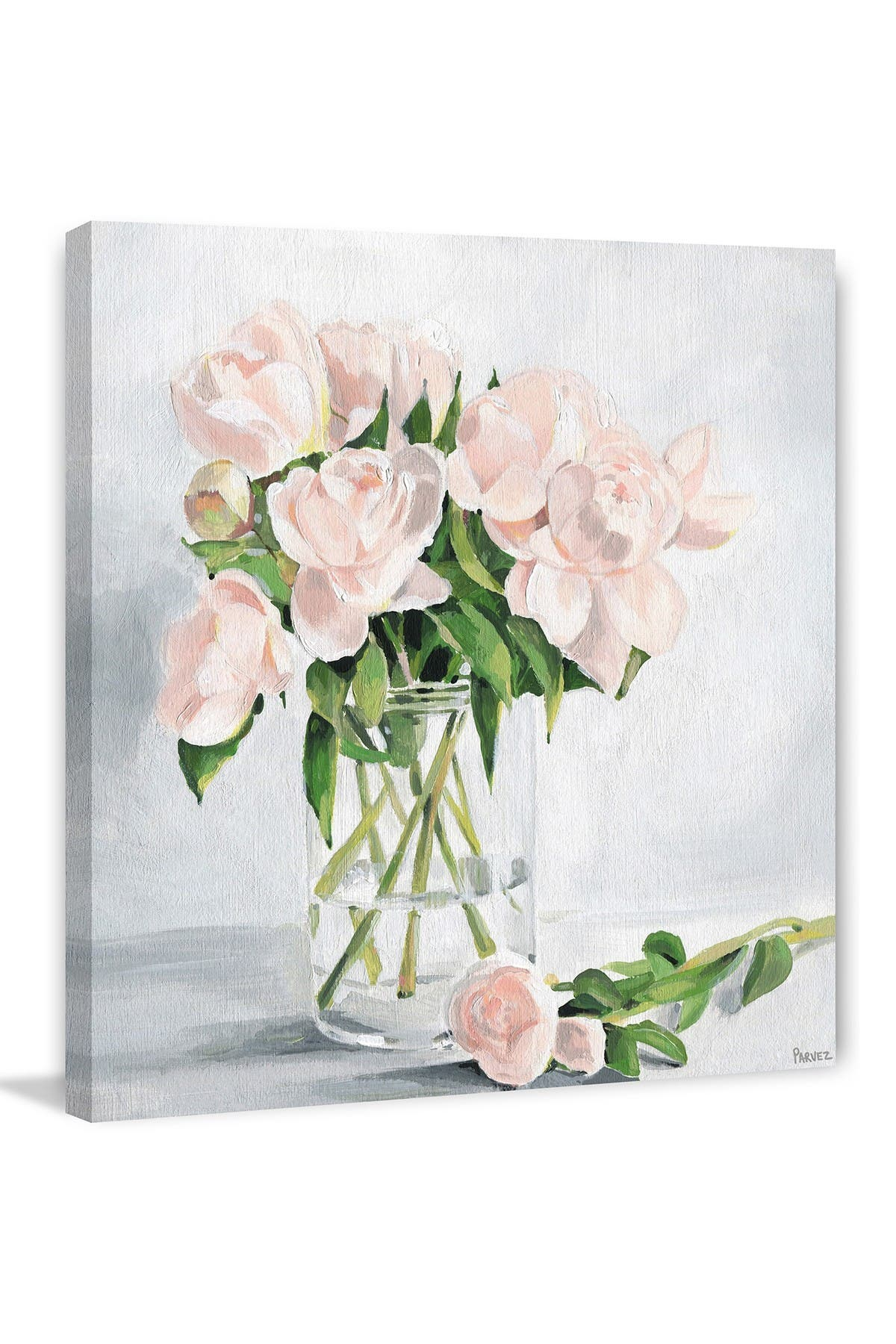 """Image of Marmont Hill Inc. Simply Blooming Painting Print on Wrapped Canvas - 12"""" x 12"""""""