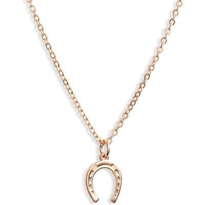Ten79La Horseshoe Charm Necklace