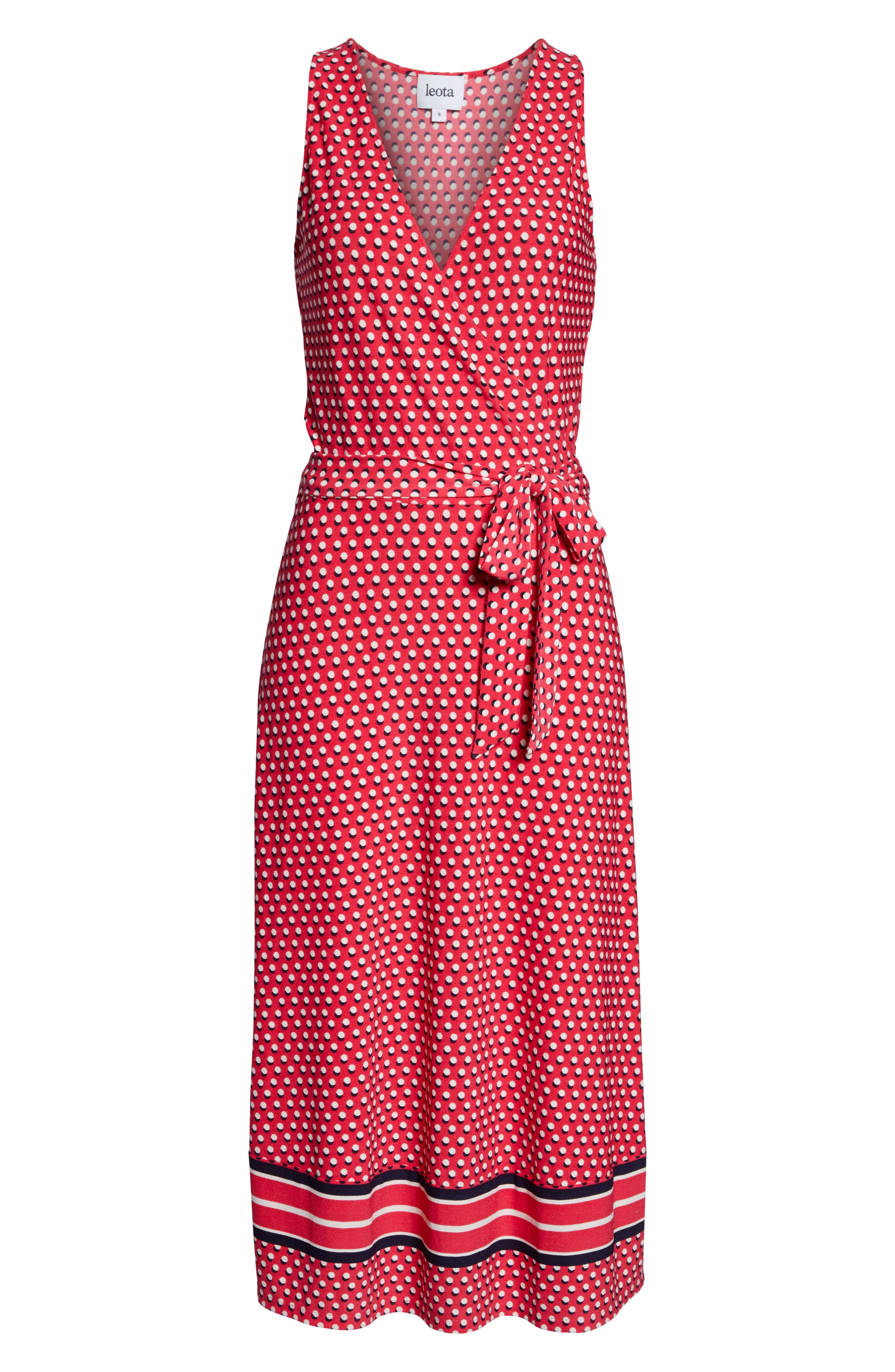 ,                             Justine Border Print Wrap Dress,                             Alternate thumbnail 7, color,                             641