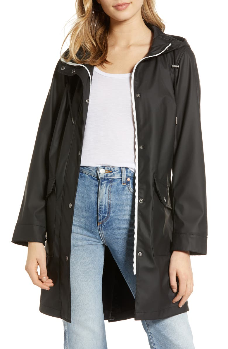 LEVI'S<SUP>®</SUP> Water Repellent Lightweight Hooded Parka, Main, color, BLACK