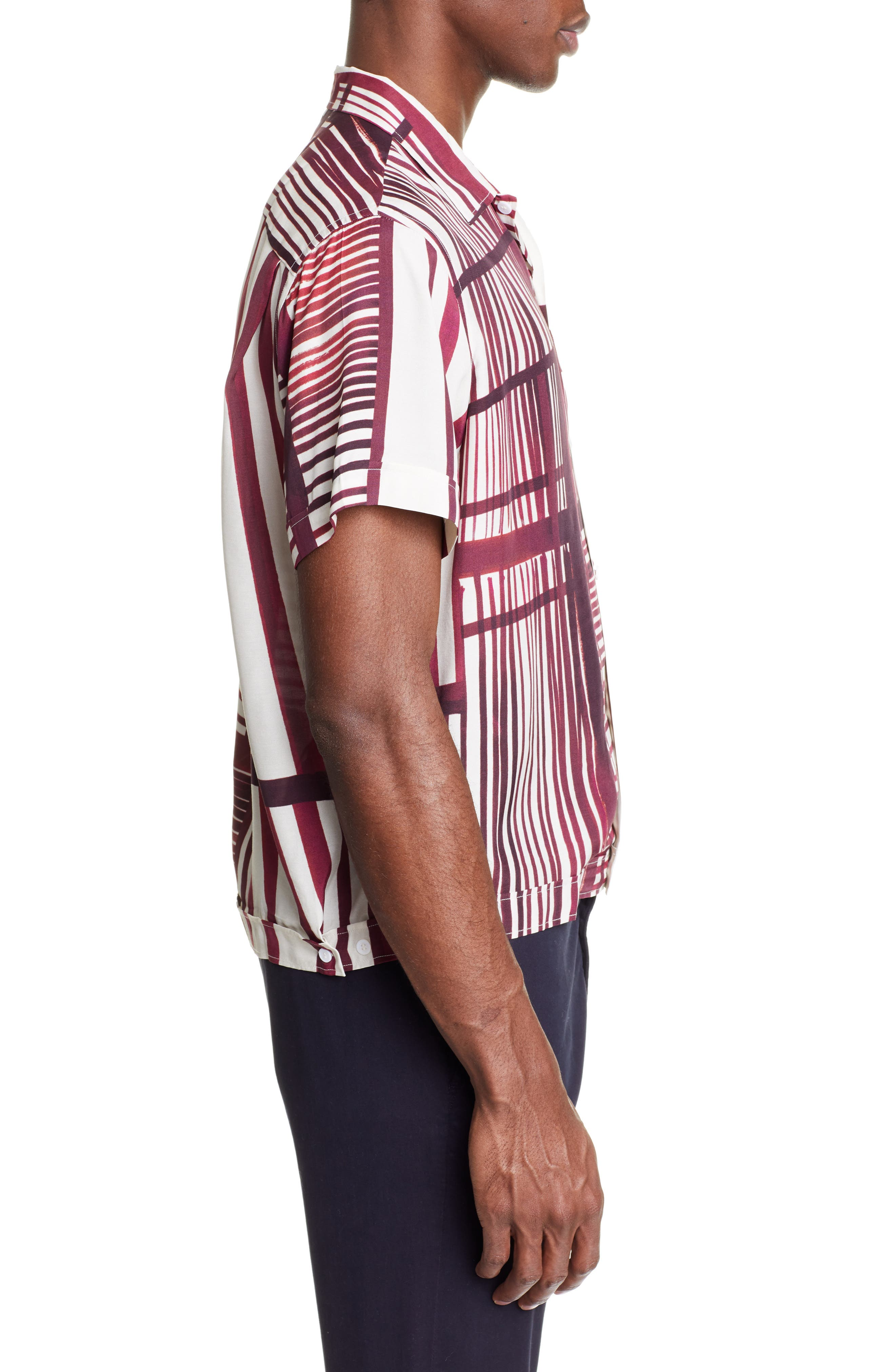 ,                             Willy Stripe Camp Shirt,                             Alternate thumbnail 4, color,                             930