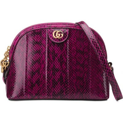 Gucci Smallgenuine Snakeskin Shoulder Bag - Pink