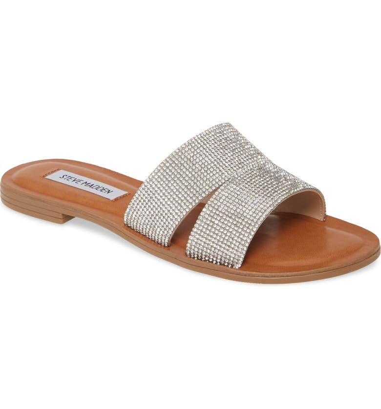 STEVE MADDEN Alexandra Genuine Calf Hair Slide Sandal, Main, color, 041