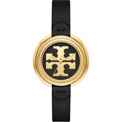 Tory Burch The Miller Leather Strap Watch,