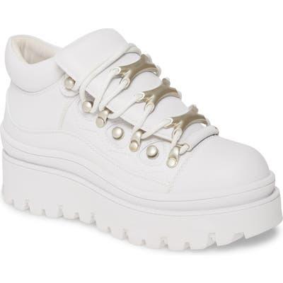 Jeffrey Campbell Fader Platform Sneaker, White