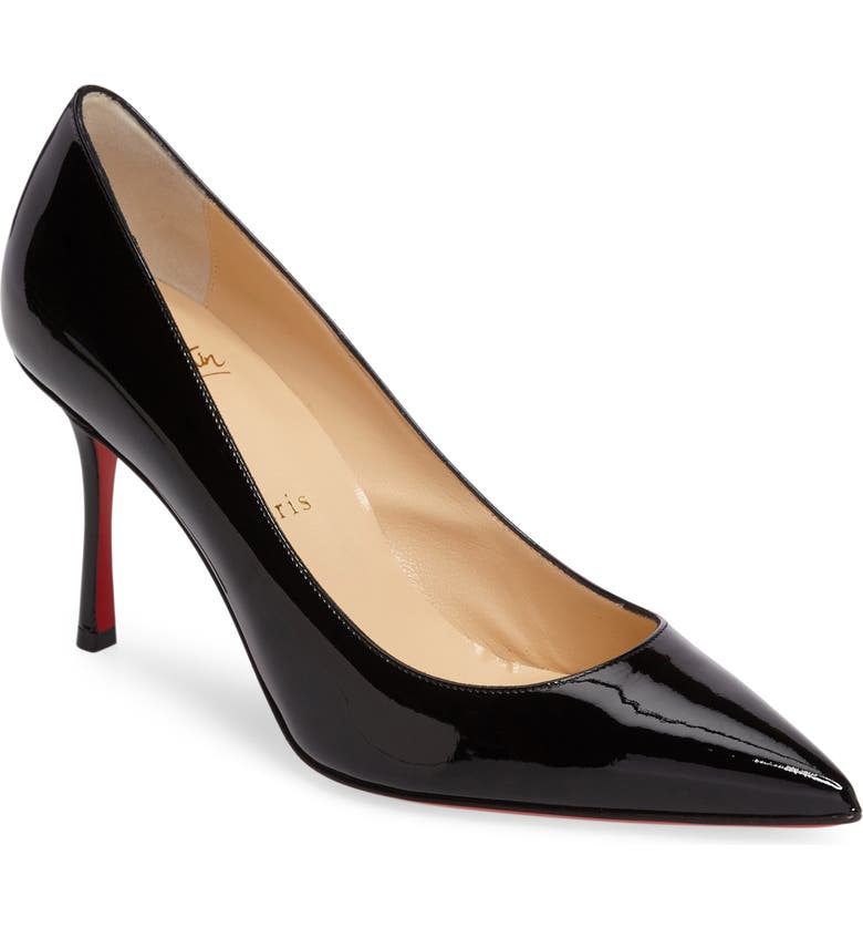 CHRISTIAN LOUBOUTIN Decoltish Pointy Toe Pump, Main, color, 001