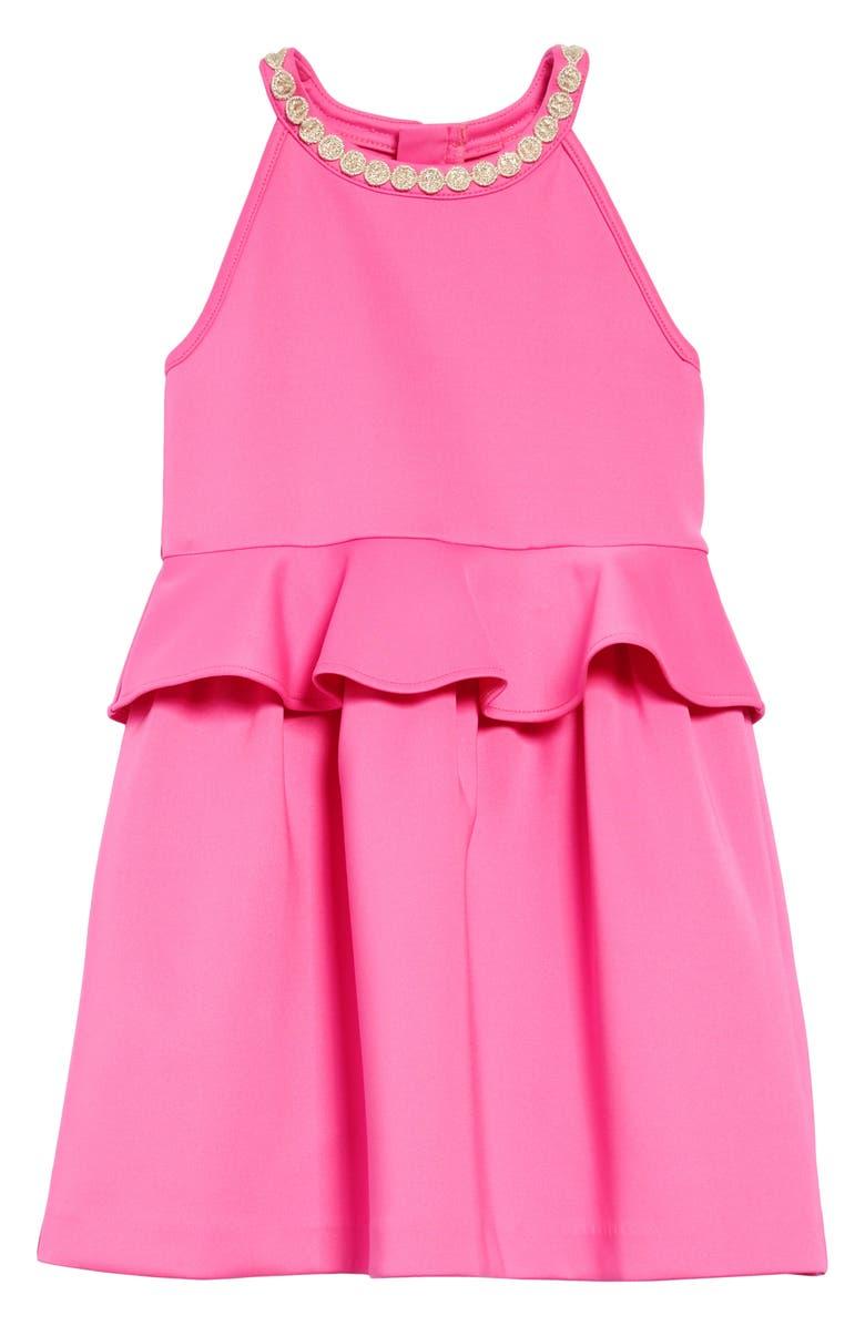 LILLY PULITZER<SUP>®</SUP> Caesara Sleeveless Dress, Main, color, MANDEVILLA PINK