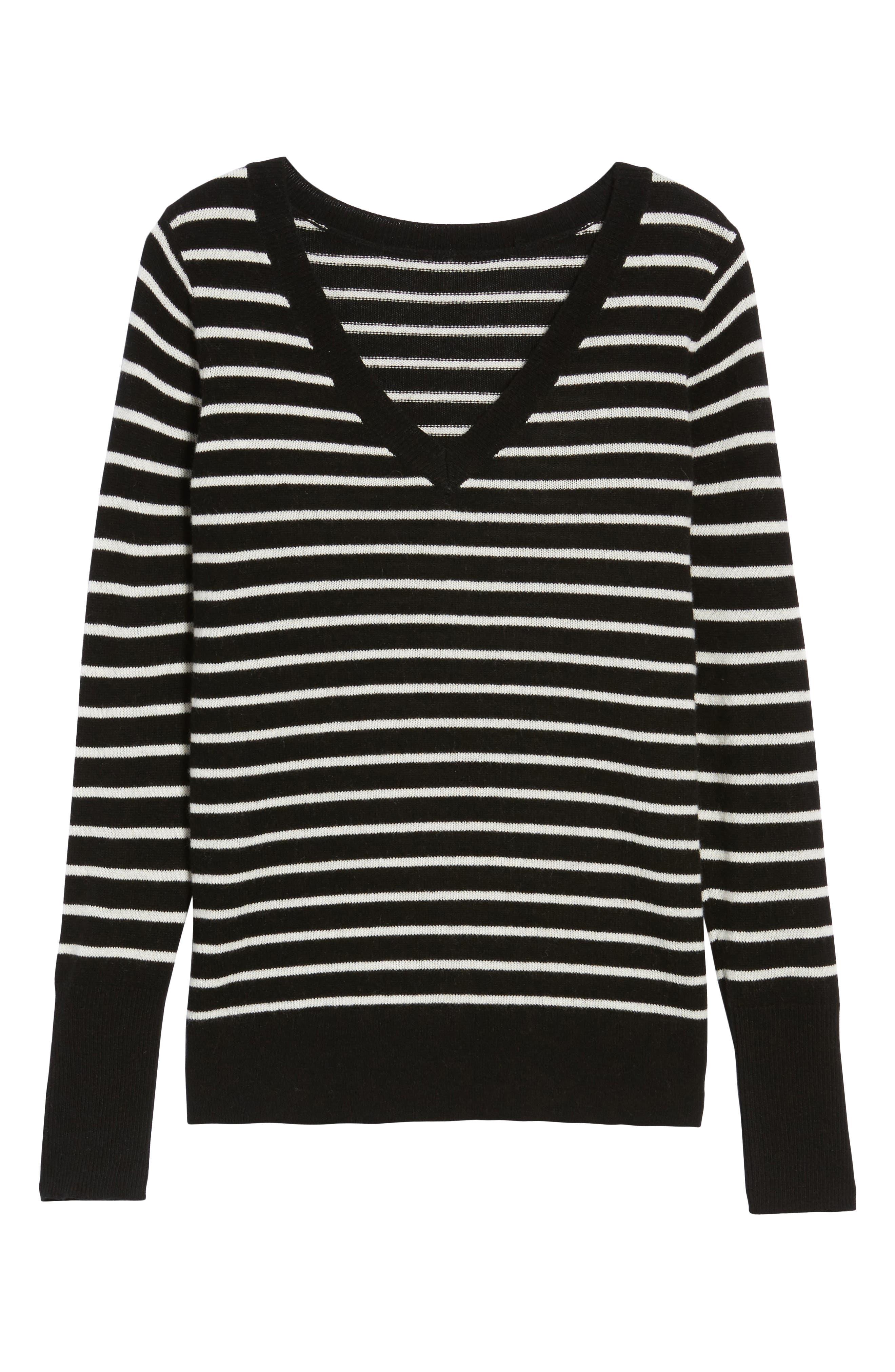 ,                             V-Neck Cashmere Sweater,                             Alternate thumbnail 12, color,                             003