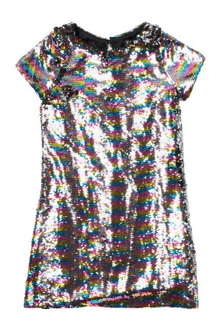 Image of Trixxi Rainbow Sequin Dress