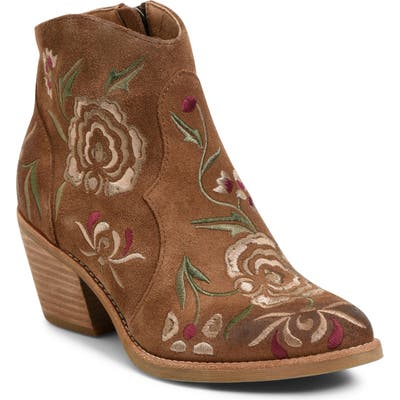 Sofft Westmont Floral Embroidered Bootie, Brown