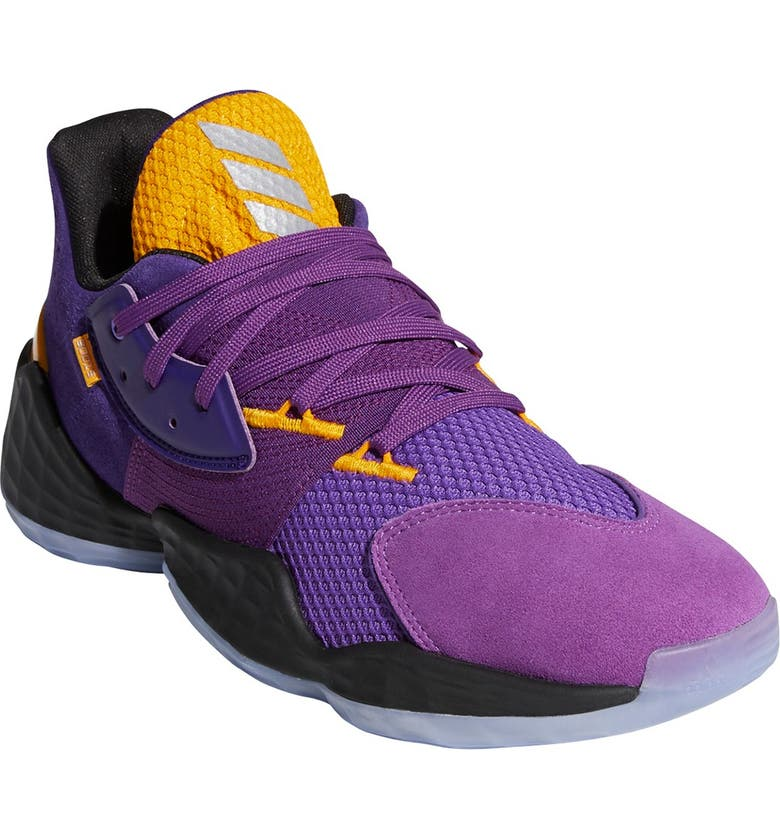 ADIDAS Harden Vol. 4 Su Casa Basketball Shoe, Main, color, TEAM COLLEG PURPLE