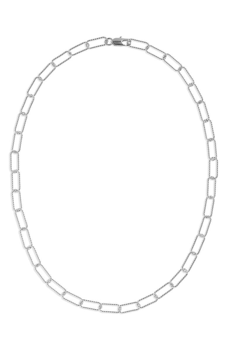 LAURA LOMBARDI Rosa Chain Necklace, Main, color, SILVER