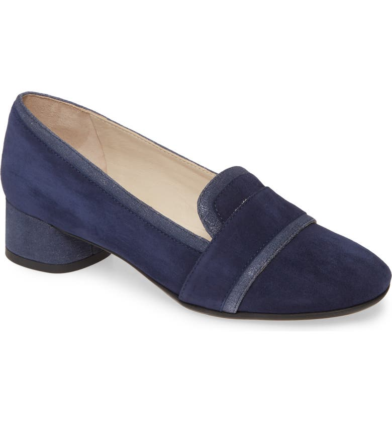 AMALFI BY RANGONI Rozzana Loafer Pump, Main, color, NAVY SUEDE