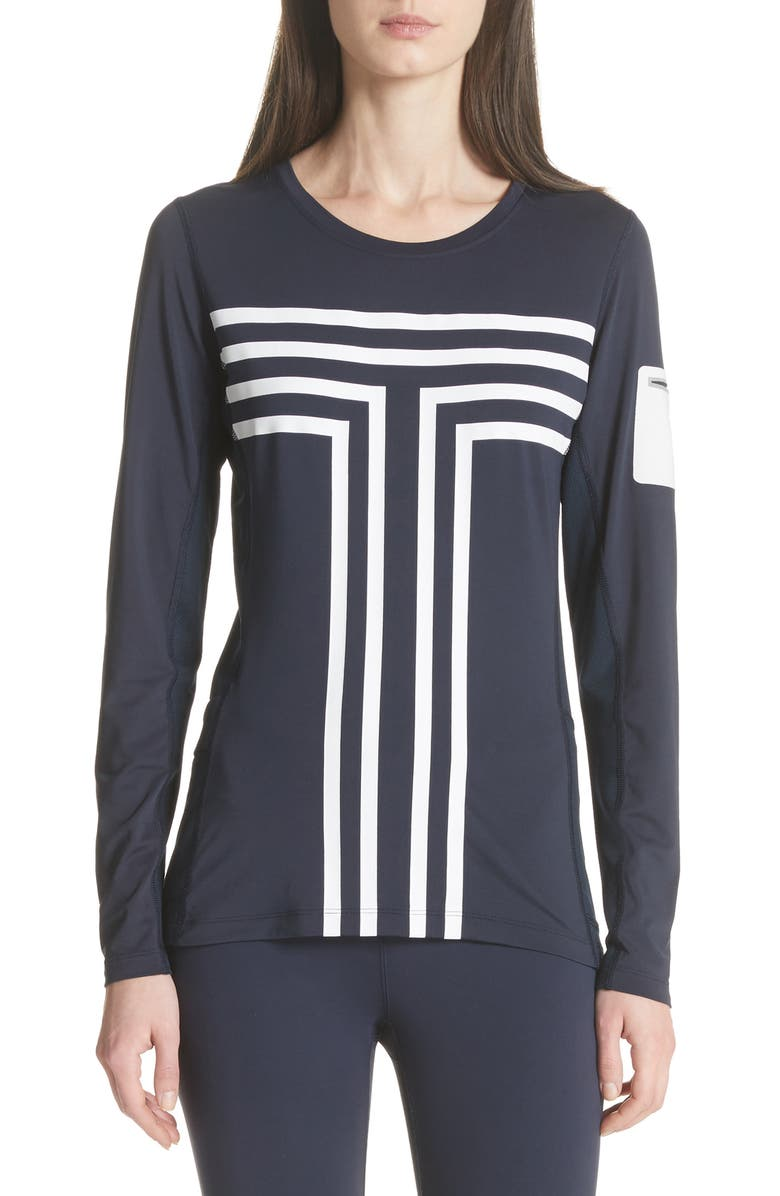TORY SPORT Graphic Performance Top, Main, color, TORY NAVY