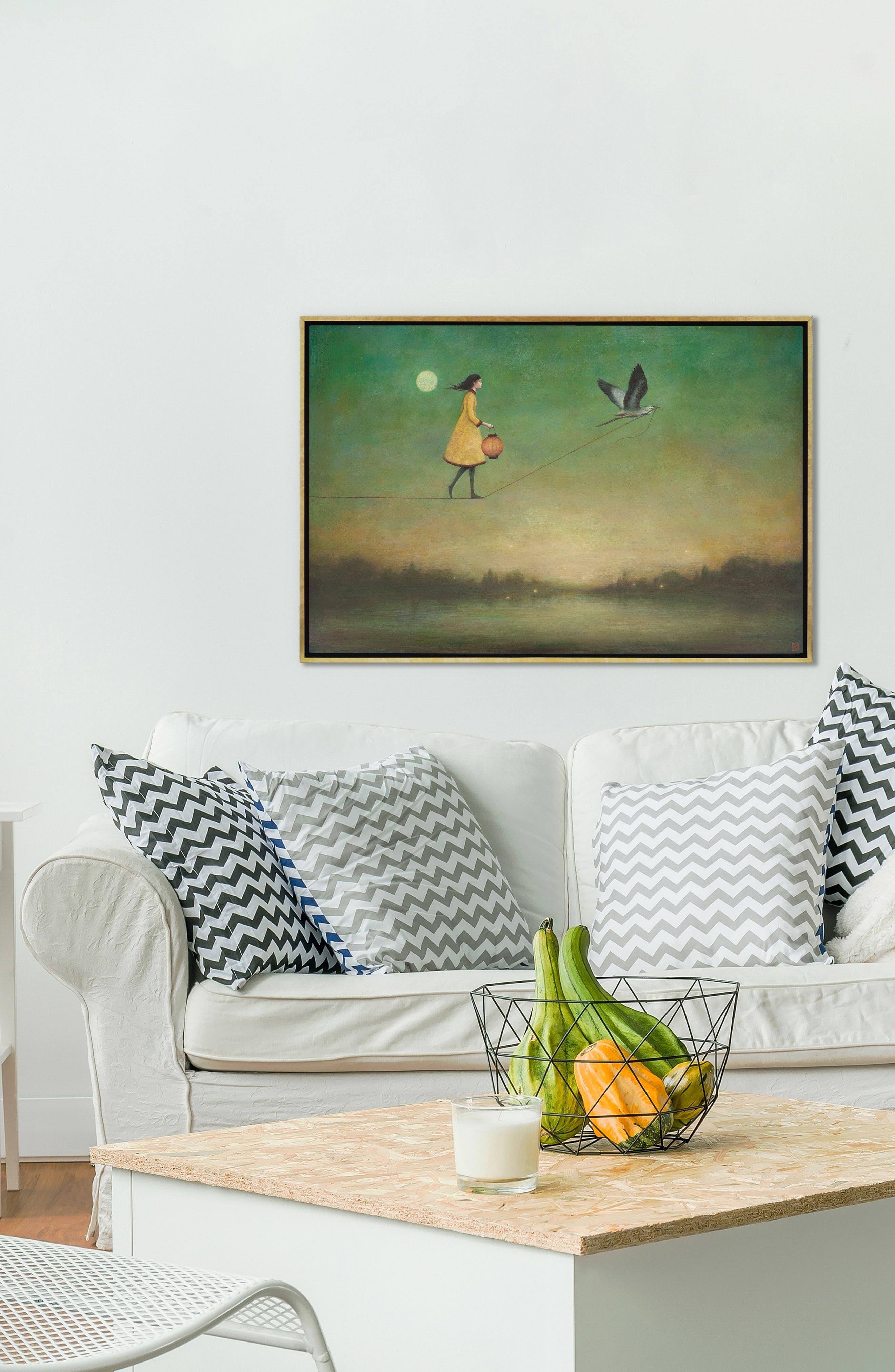 ,                             Blue Moon Expedition Giclée Print Framed Canvas Art,                             Alternate thumbnail 2, color,                             YELLOW