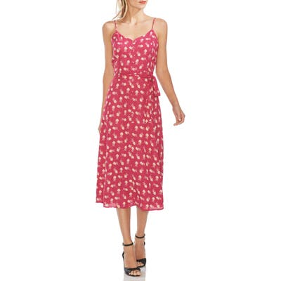 Vince Camuto Ditsy Floral Sleeveless Midi Dress, Pink