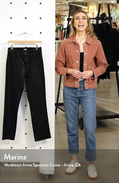 Transcend - Cindy Coated High Waist Side Slit Jeans, sales video thumbnail
