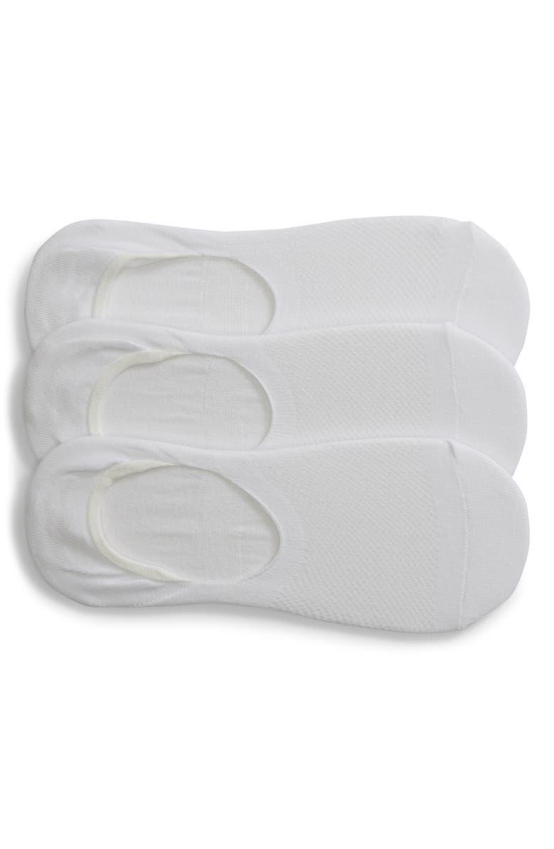 NORDSTROM 3-Pack Liner Socks, Main, color, 100