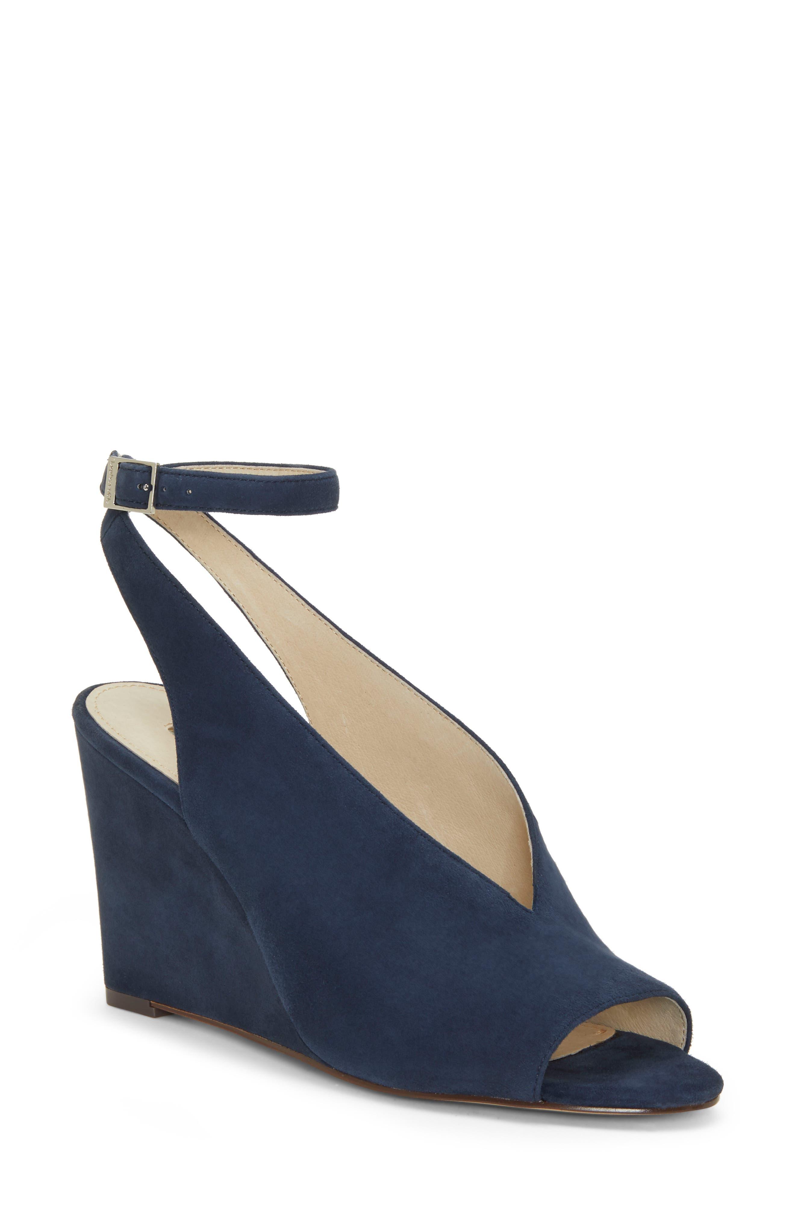 Louise Et Cie Ankle Strap Wedge Sandal, Blue