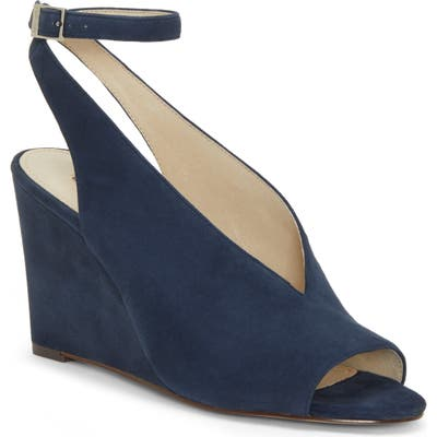 Louise Et Cie Ankle Strap Wedge Sandal, Blue