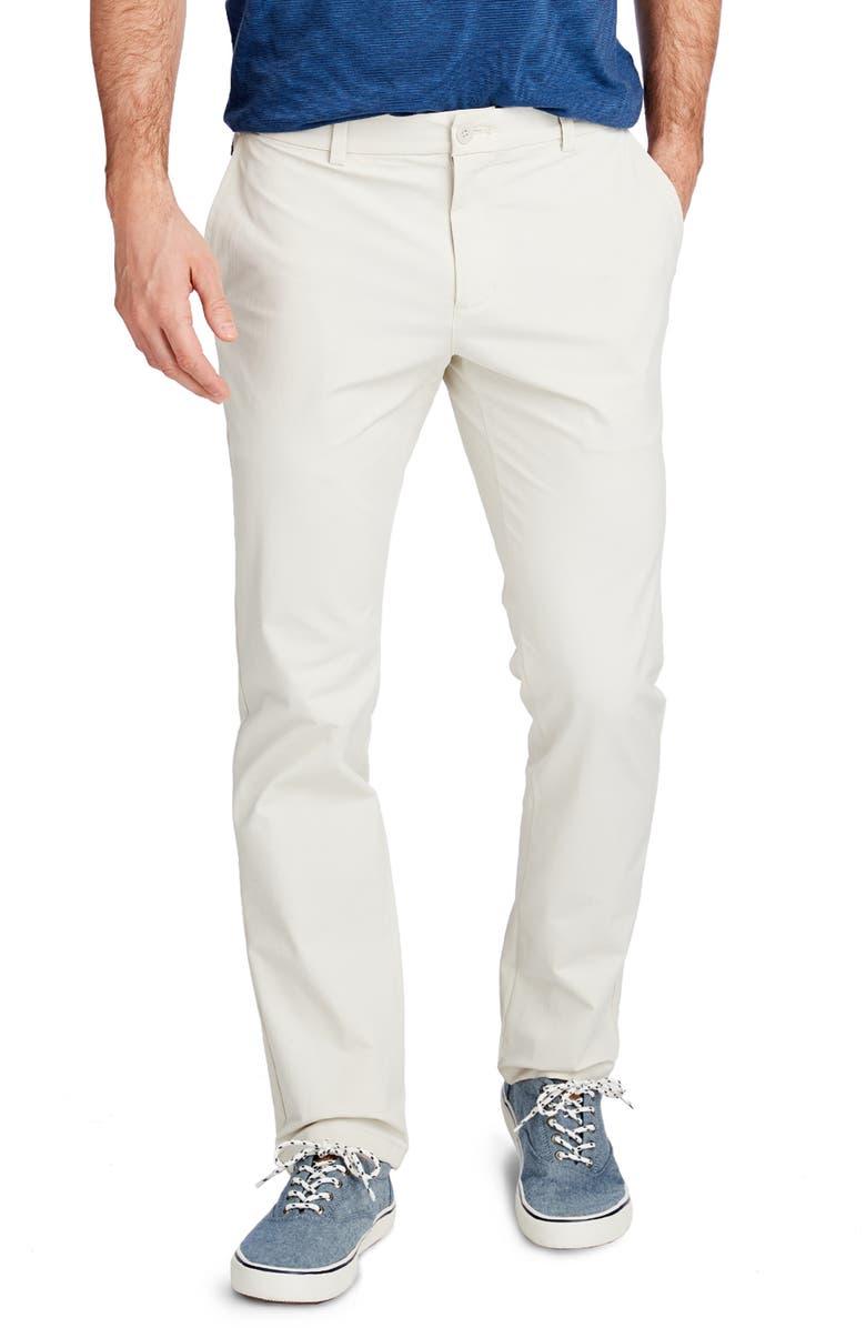 VINEYARD VINES On the Go Slim Fit Performance Pants, Main, color, STONE