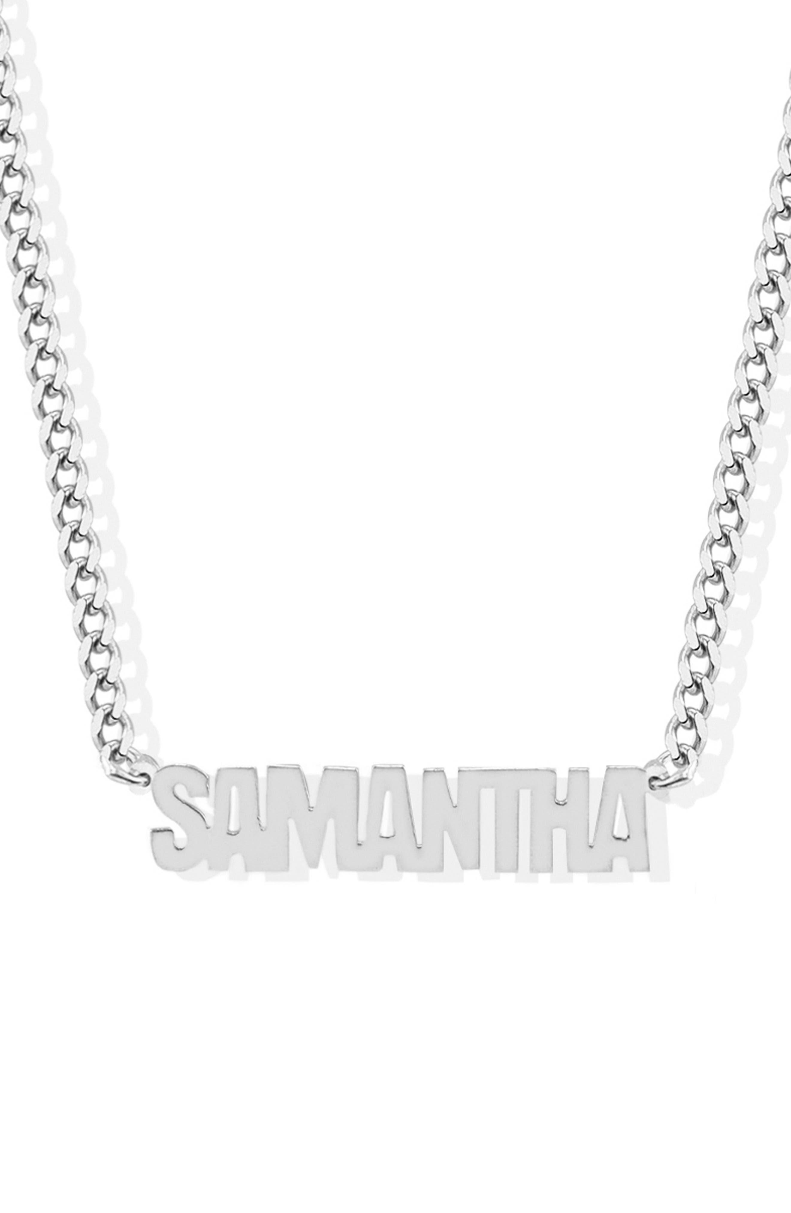 Women's Argento Vivo Personalized Block Letter Necklace