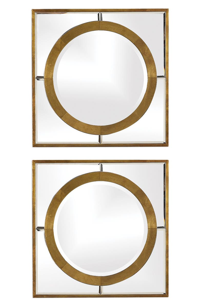 UTTERMOST Gaza Set of 2 Mirrors, Main, color, GOLD