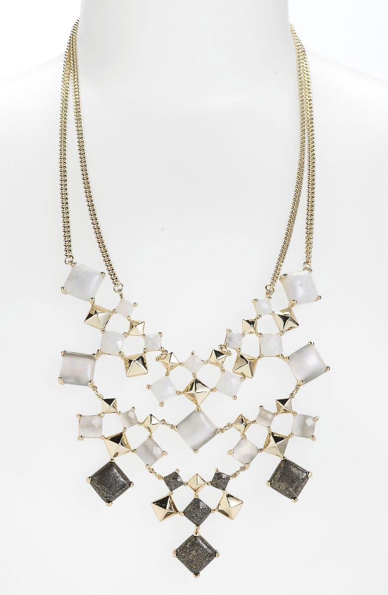 KENDRA SCOTT 'Allegra' Bib Necklace, Main, color, 020